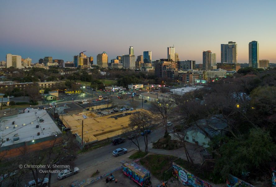 Downtown Austin from Castle Hill