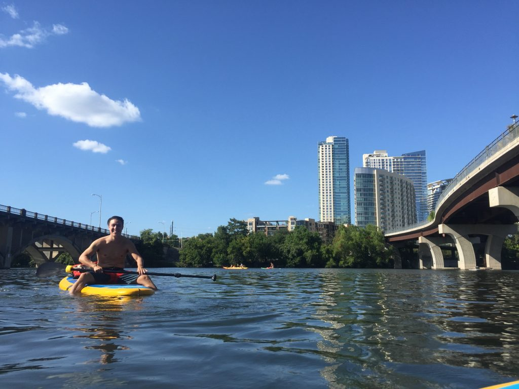 Staying Cool in Austin While Paddle boarding on Lady Bird Lake