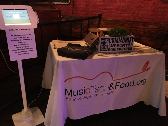 MusicTechandFood.org Donation Kiosk in Austin