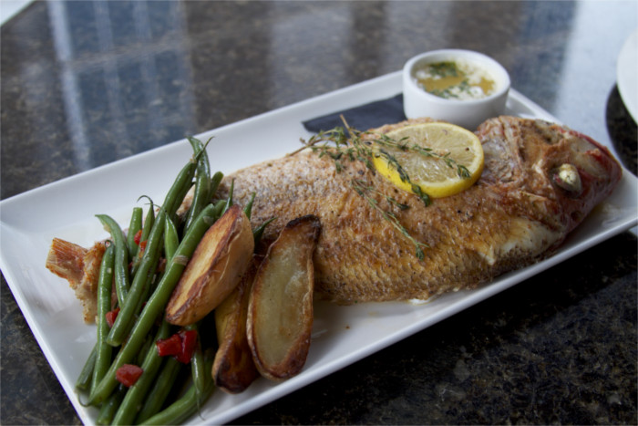 Whole Roasted Fish Red Snapper