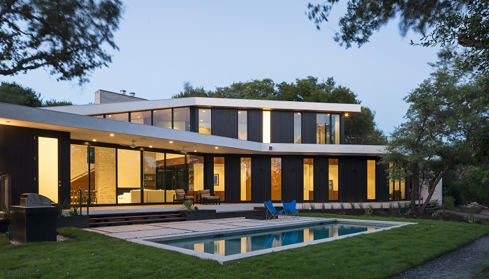 Branch House by baldridgeARCHITECTS in Barton Hills