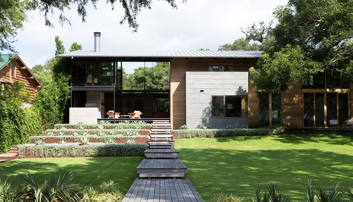 Hog Pen Creek project by Lake|Flato Architects in Greenshores on Lake Austin