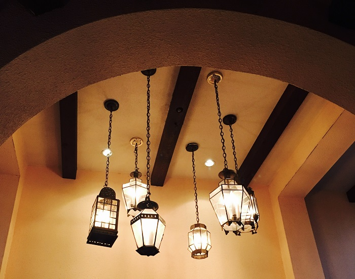 Lanterns create an inviting ambiance