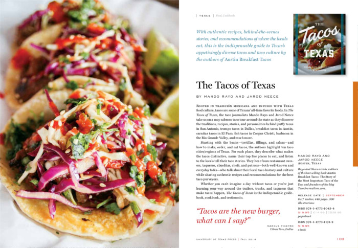 Tacos of Texas Book