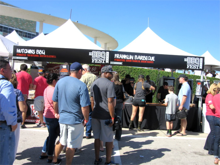 Franklin Barbecue Tent at TMBBQ Fest