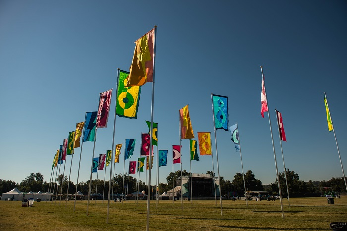 ACL Fest Flags in the Morning