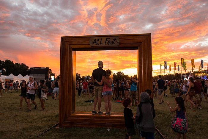 Silhouette Couple ACL Fest Picture Frame