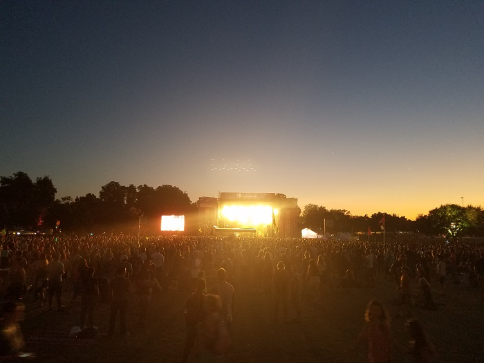 ACL Fest Stage at Sunset