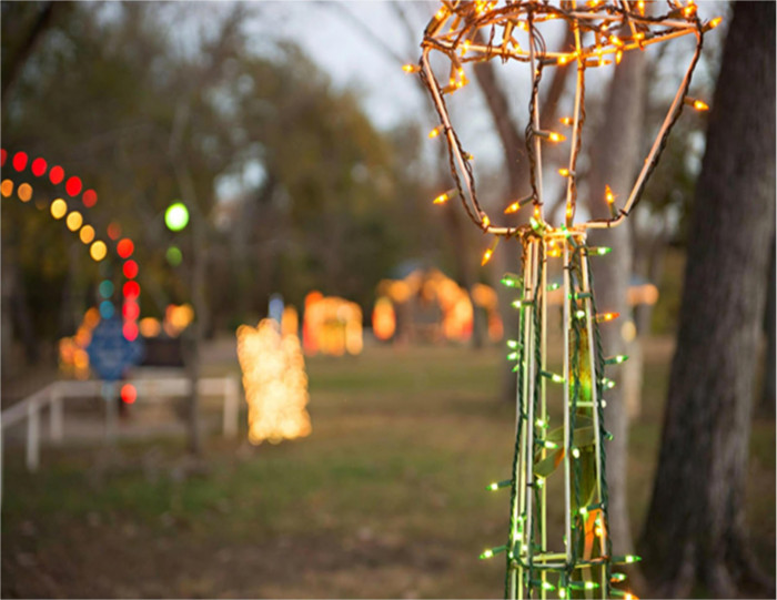 Bastrop's River of LIghts is open through New Year's Eve