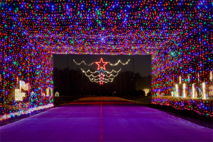 Round Rock's Rock'N Lights trail