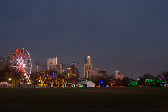 Austin Trail of Lights and Ferris Wheel