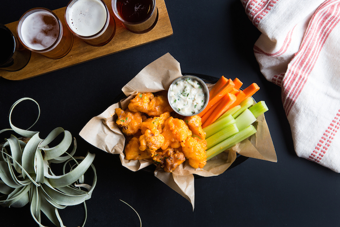 Buffalo Cauliflower Wings at The Beer Plant