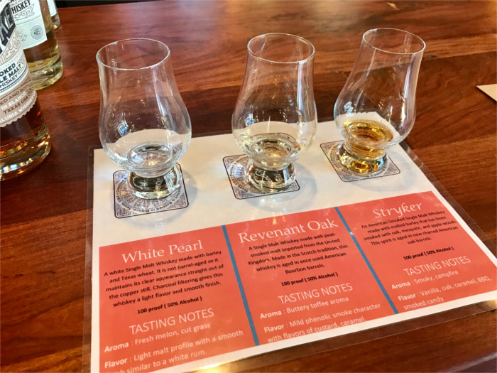 Andalusia Whiskey Flight