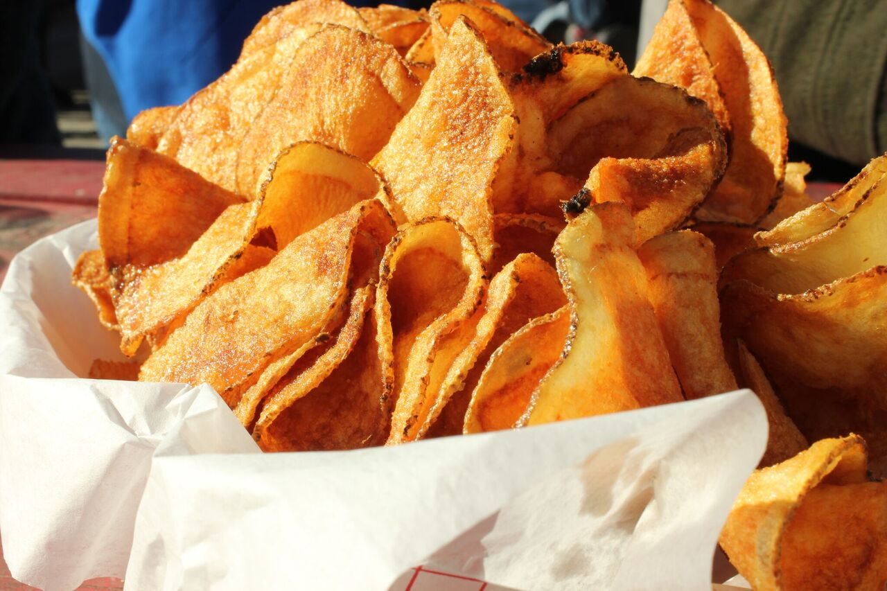 Spiral Cut Fried Potato Chips