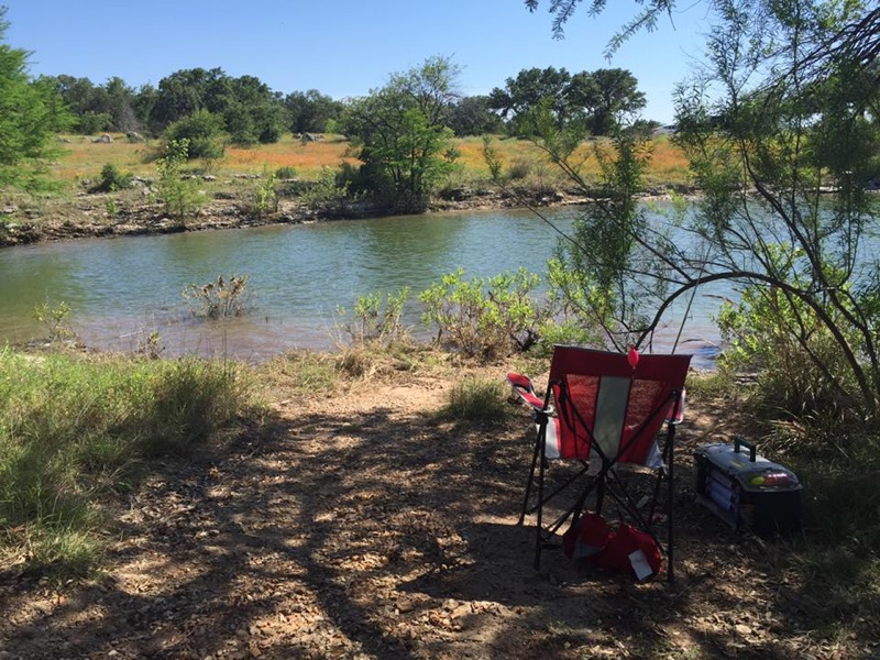 Campsites at Pace Bend near Austin