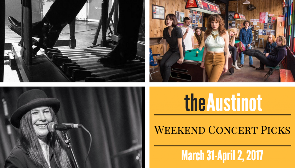 Austin Weekend Concert Picks March 31 to April 2