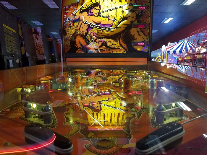 Hercules Pinball Game at Pinballz in Austin