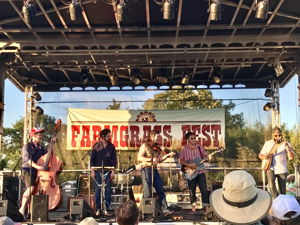 Whiskey Shivers Performs at Farmgrass Fest