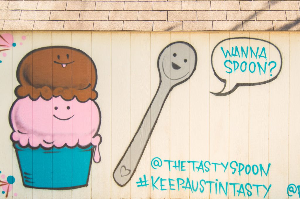 Wanna Spoon Austin Mural at The Tasty Spoon