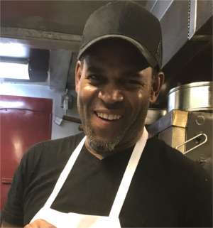 Chef Demmerick Johnson at Ladybird's Austin Kitchen