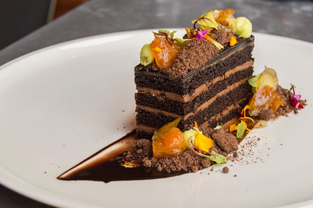 Chocolate Curry Layer Cake at Geraldine's Austin