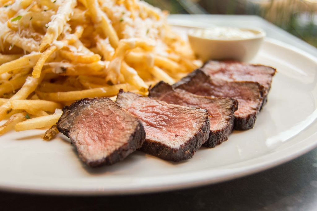 Steak Frites with Parmesan Fries at Geraldine's Austin