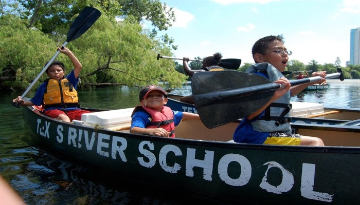 Texas River School Campers