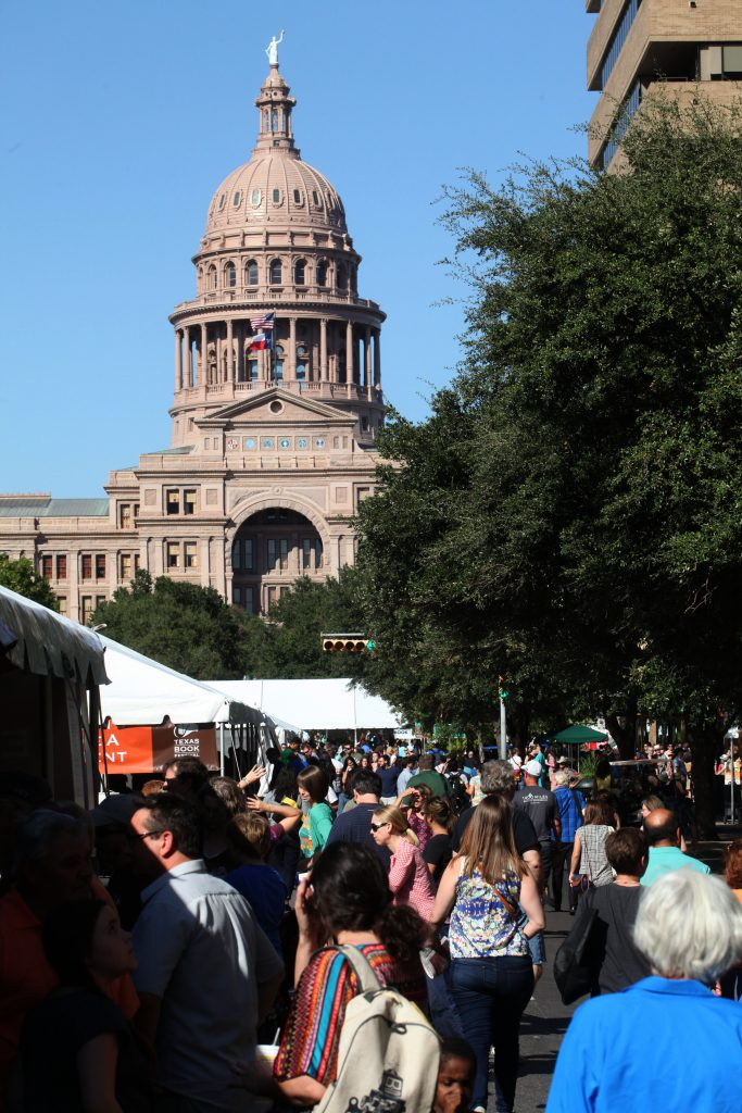 Attendees Strolling Texas Book Festival