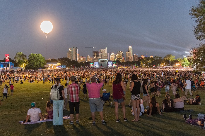 ACL Fest Stage at Dusk
