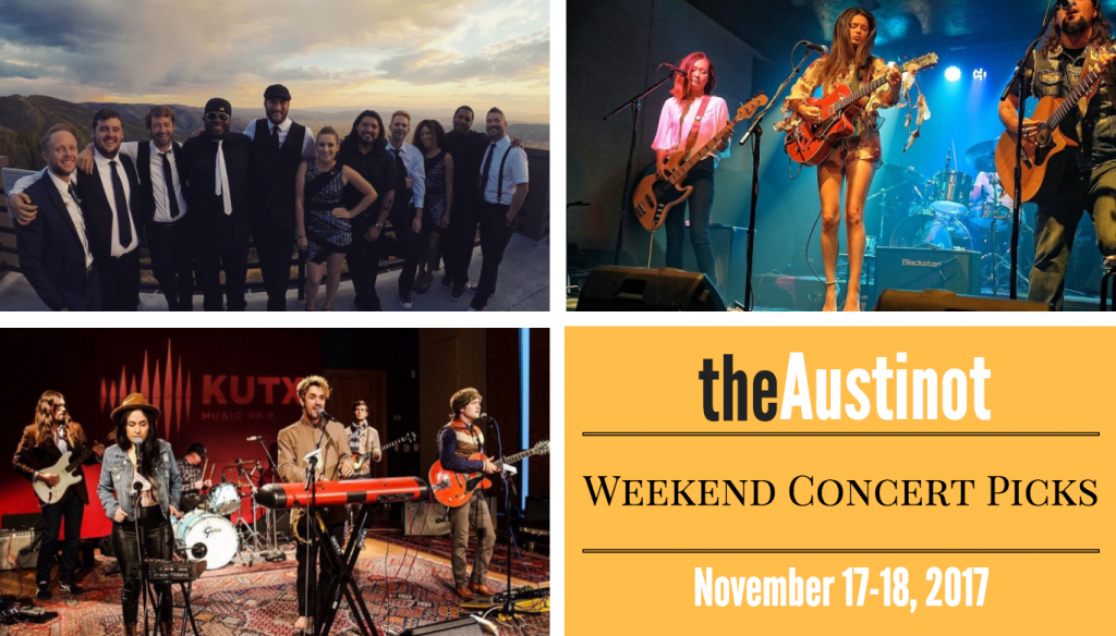 Austinot Weekend Concert Picks Nov 17