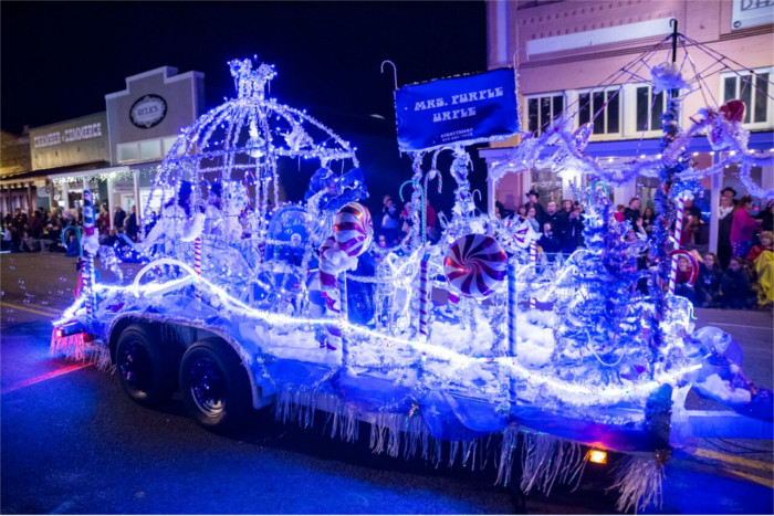 Lighted Christmas Parade in Bastrop, Texas