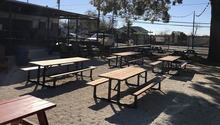 Vintage Heart Cafe Large Outdoor Patio in Austin