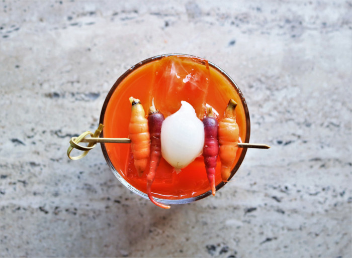 Carrot Bloody Mary at Geraldine's Austin