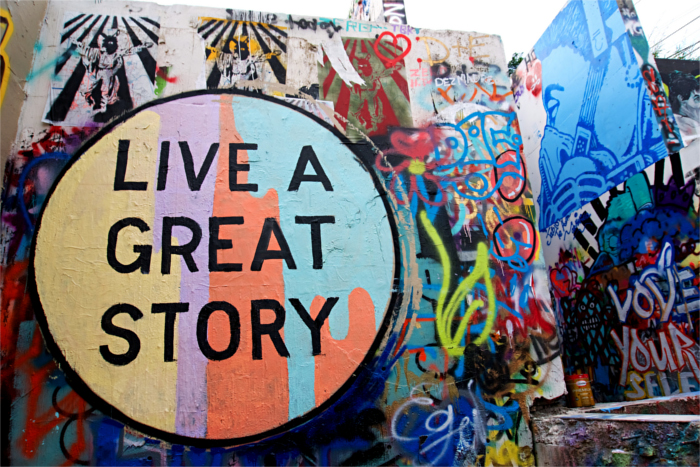 Live A Great Story Mural in Austin