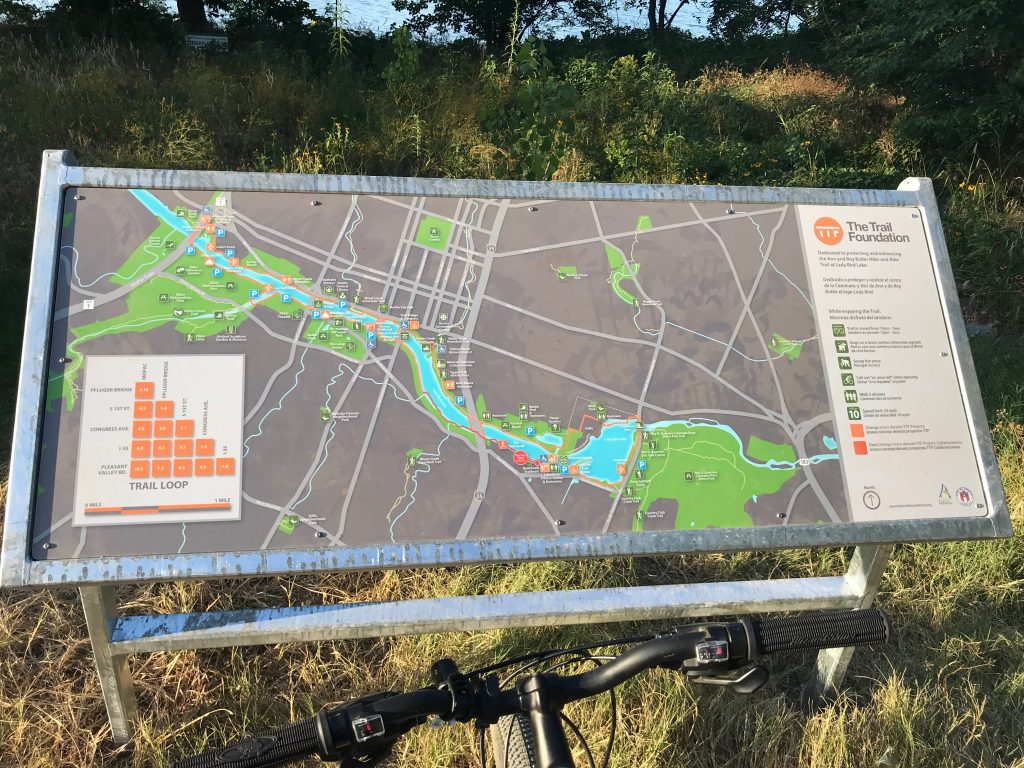 Ann and Roy Butler Hike and Bike Trail Map Austin