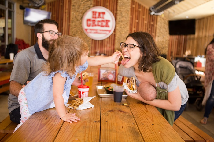 Hat Creek Burger Company is one of many family-friendly local restaurants in the Westlake neighborhood of Austin (Credit: Hat Creek Burger Company)