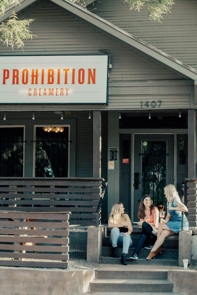 Ashley and Becky Brown at Prohibition Creamery