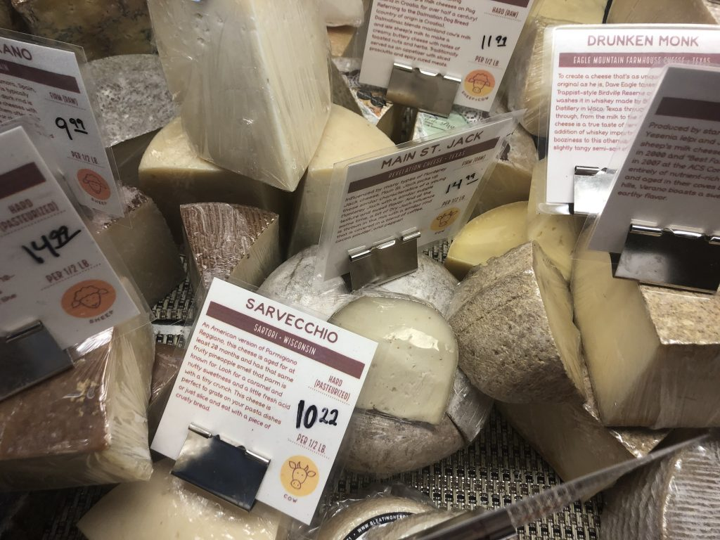 Artisan Cheese Selection at Antonelli's in Austin