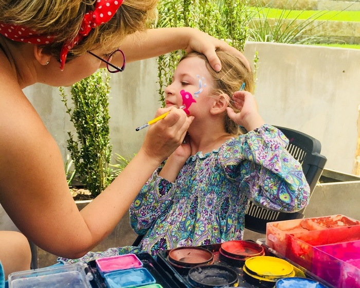 Face Painting at Family Sunday Funday in Austin