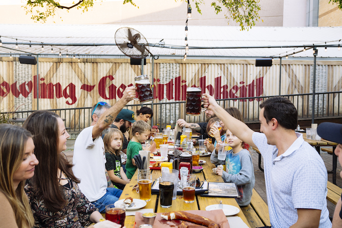 Family Gathering Place in Austin at Scholz Garten