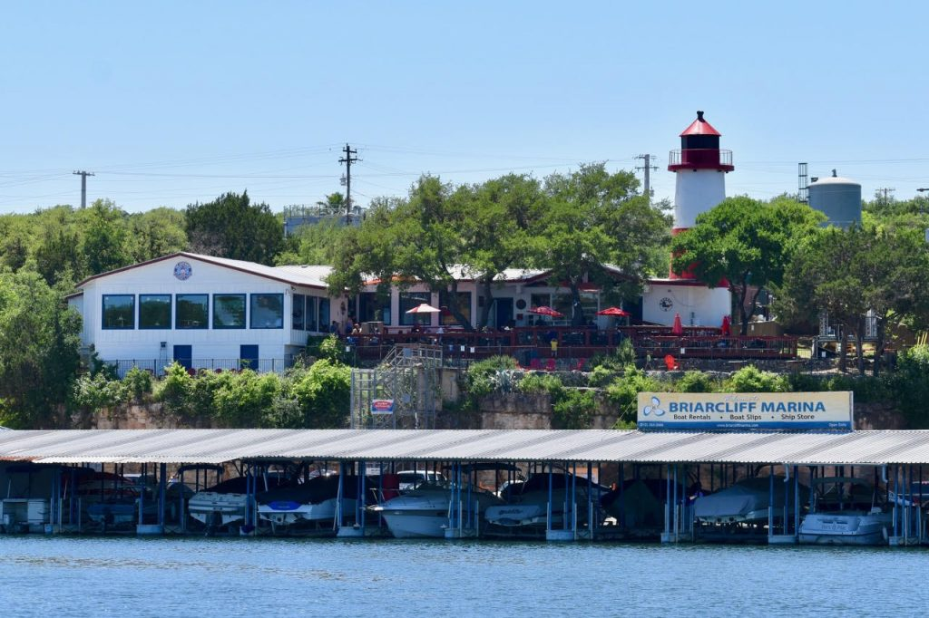View of The Lighthouse Restaurant & Lounge From Lake Travis