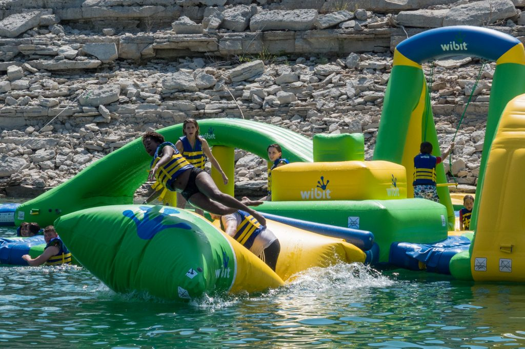 Waterloo Adventures Obstacle Course on Lake Travis