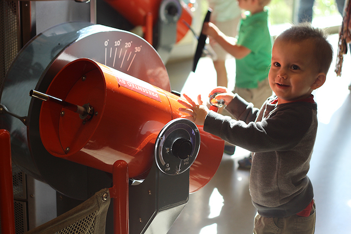 Toddler Playing and Learning at Thinkery Children's Museum Austin