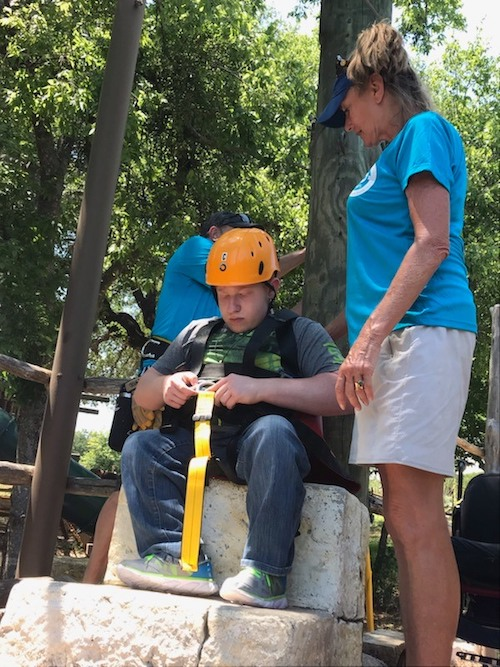 Canopy Zip Line for Camper at Candlelight Ranch