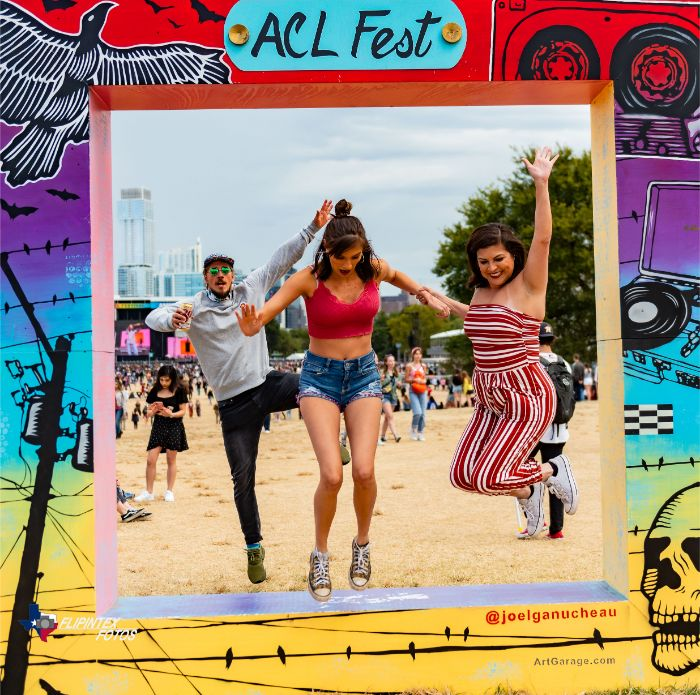 Jumping From ACL Fest Picture Frame