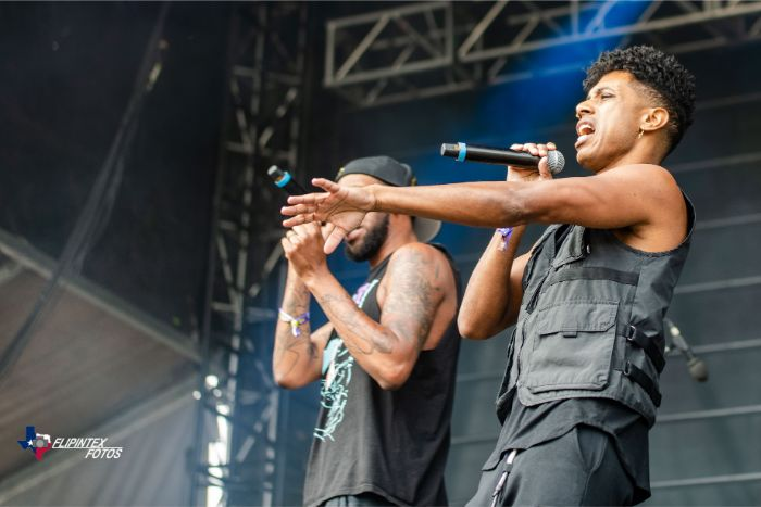 Blackillac playing on the VRBO stage at the 2019 ACL Music Festival.