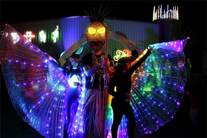 Surreal Sea attendees in neon costume