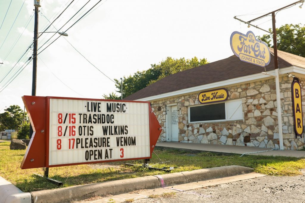 The Far Out Lounge & Stage in South Austin