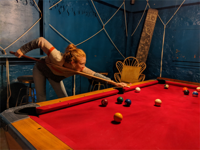 Pool Table at The Far Out in South Austin