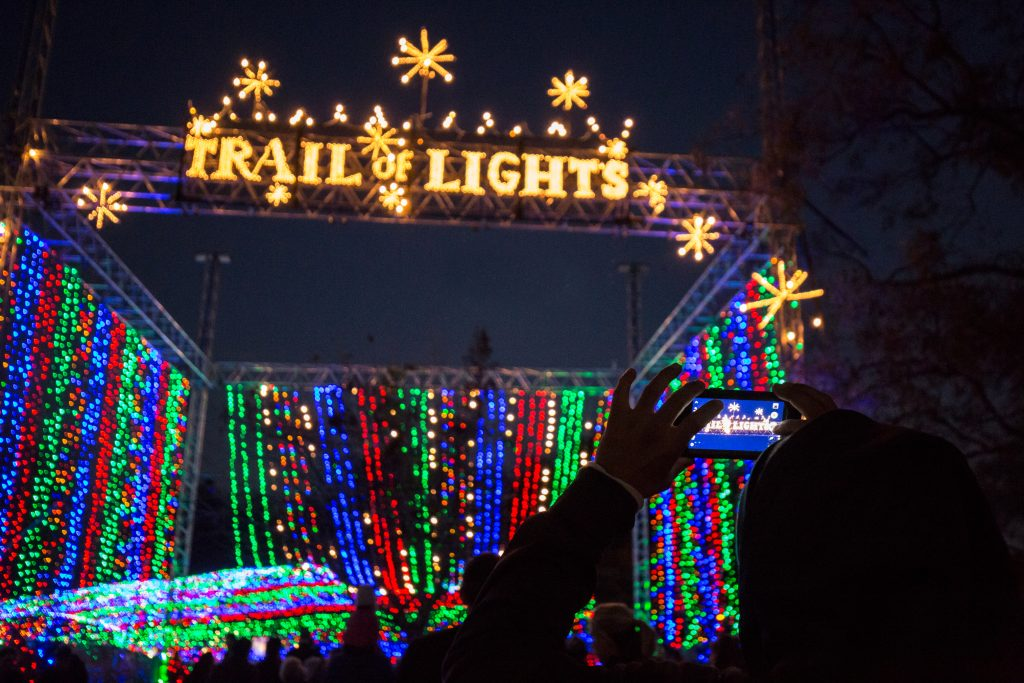 Trail of Lights Entrance Tunnel in Austin